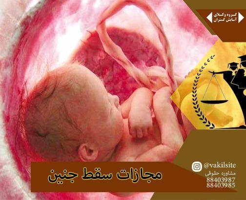 مجازات سقط جنین